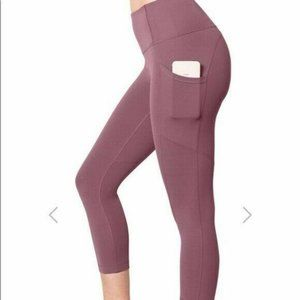 Yogalicious Lux High Waist Capri Crop Leggings L